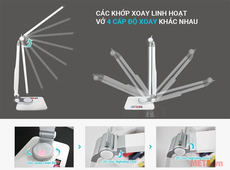 Đèn bàn led Hàn Quốc đổi màu Prism 5400CB có các khớp xoay linh hoạt