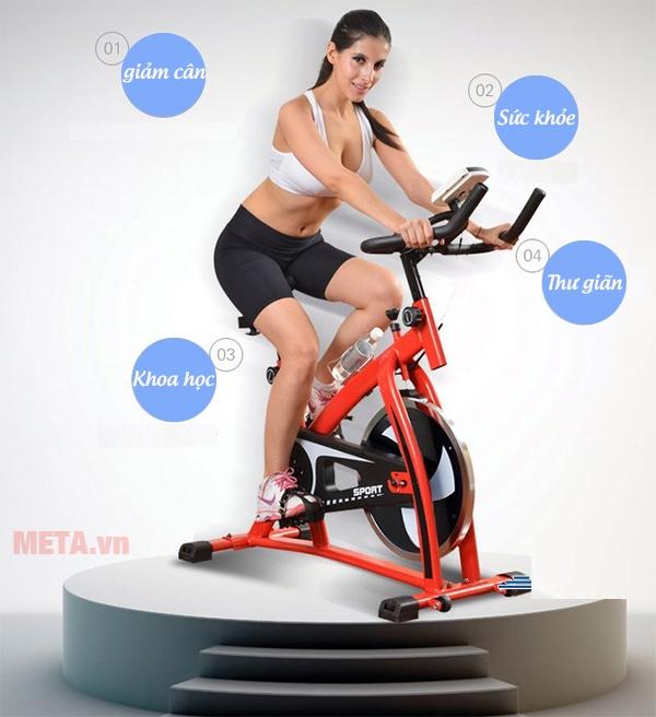 Xe đạp tập thể dục Spin Bike nâng cao sức khỏe dẻo dai