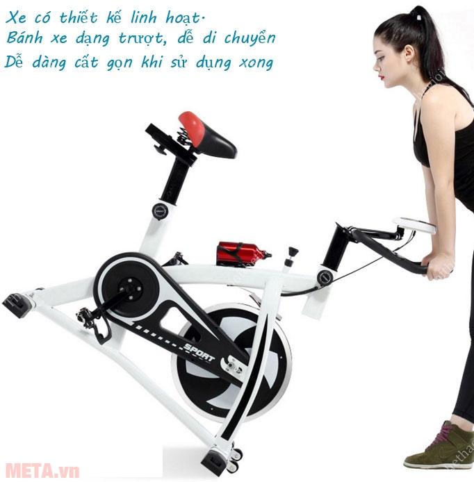 Sự thiết kế linh hoạt mà xe đạp tập mang lại