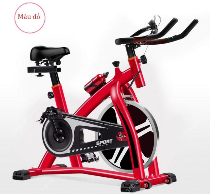 Xe đạp tập thể dục Spin Bike được cấu tạo từ bộ khung thép ống vuông chắc chắn