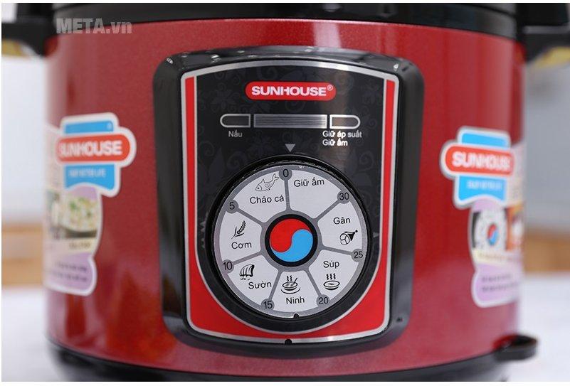 Nồi áp suất điện đa năng Sunhouse SHD-1755 dễ dàng sử dụng