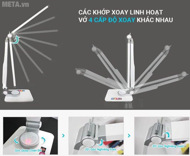 Đèn bàn Led Hàn Quốc Prism 4400W thiết kế các góc xoay linh hoạt