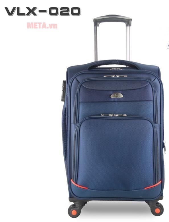 Vali vải cao cấp VLX020 20 inch màu xanh tím than