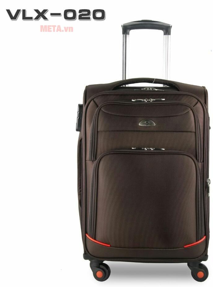 Vali vải cao cấp VLX020 20 inch mang đến vẻ đẹp thẩm mỹ nhờ chất liệu vải không thấm nước
