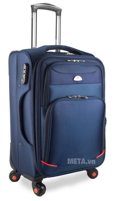 Vali vải cao cấp VLX020 24 inch màu xanh