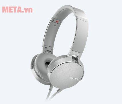 Tai nghe Sony Extra Bass MDRXB550AP màu trắng
