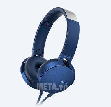 Tai nghe Sony Extra Bass MDRXB550AP màu xanh dương