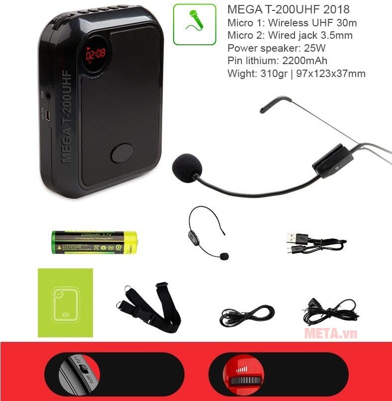Micro không dây có khả năng kết nối xa 30m