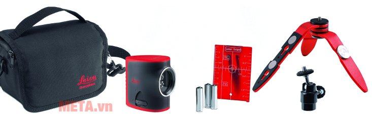Máy cân mực laser Leica LINO L2 sử dụng 3 pin AAA 1.5V