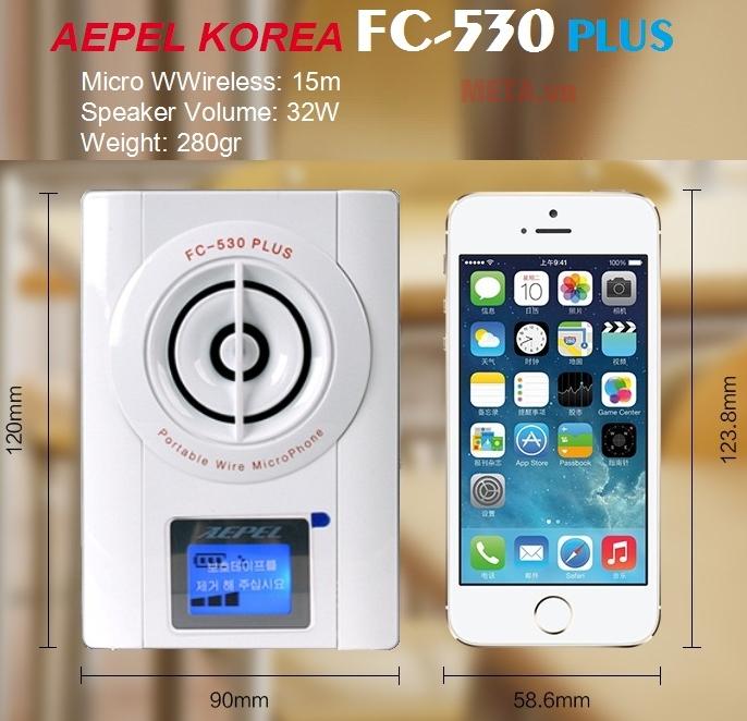 Aepel FC-530 Plus sử dụng pin li-ion 2000mAh/7.4V cho phép sử dụng liên tục suốt 20 giờ, có thời gian chờ 5 ngày