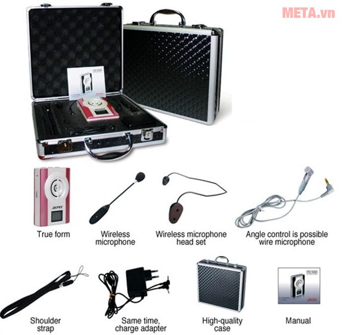 FC - 830 đi kèm mic không dây và mic có dây