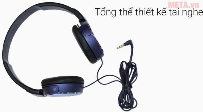 Tai nghe Sony MDR-ZX310AP thiết kế linh hoạt và có thể gấp gọn để cất