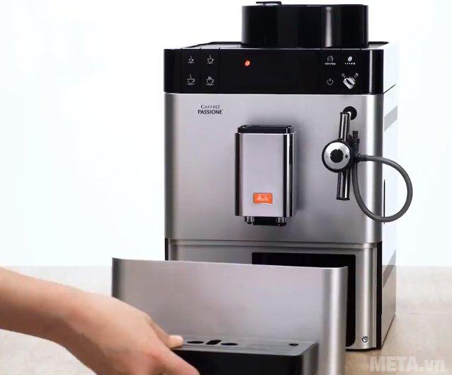 Máy pha cà phê Melitta Caffeo Passione có khay chứa nước thải