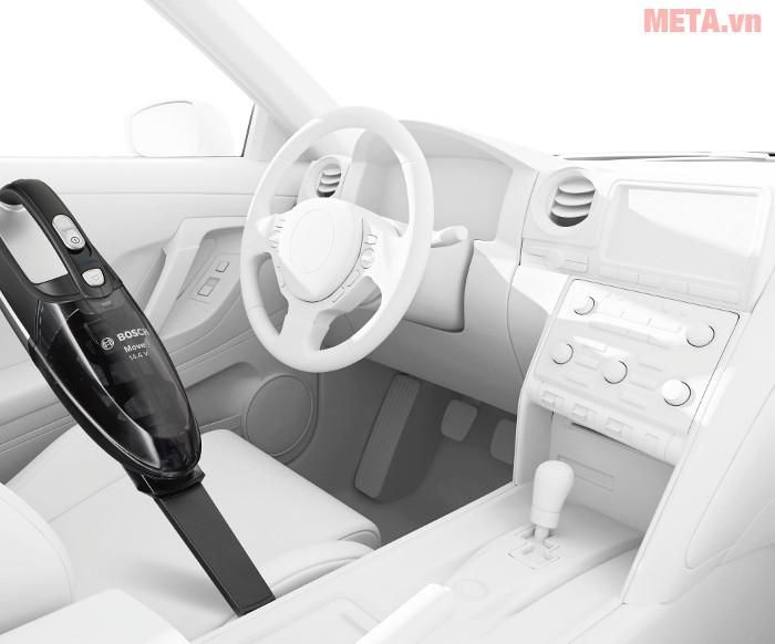 Máy hút bụi cầm tay Bosch BHN14090 hút sạch bụi bẩn trên ghế ô tô