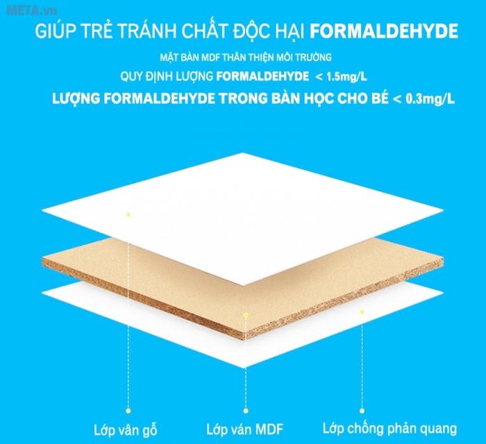 Mặt bàn được cấu tạo đặc biệt