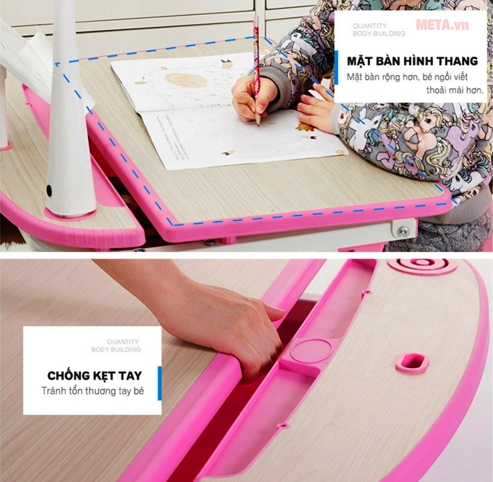 Thiết kế chống kẹt tay, cũng như giúp bạn di chuyển bàn một cách dễ dàng