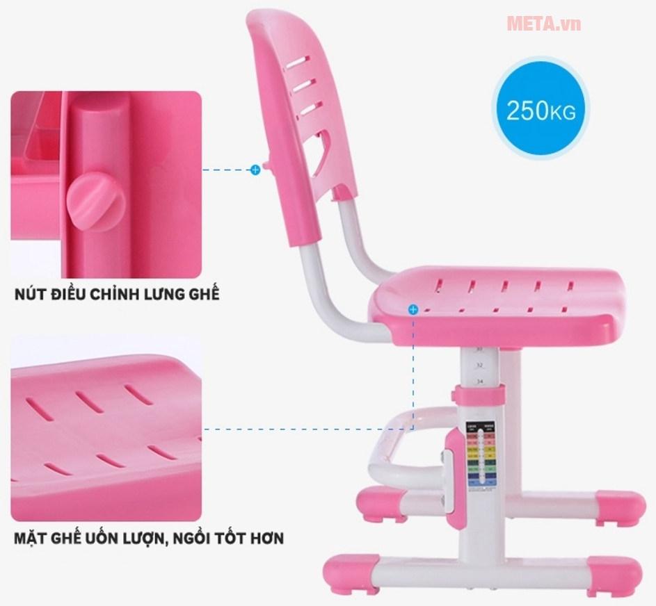 Ghế ngồi cho phép điều chỉnh độ cao và phần tựa lưng