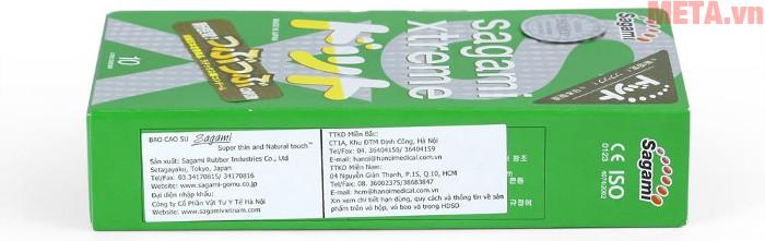 Bao cao su Nhật Bản Sagami Xtreme Green ôm khít và co giãn tự nhiên