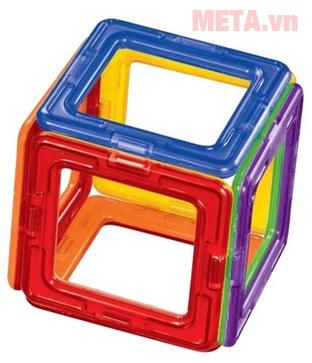 Miếng ghép hình vuông được xếp thành hình lập phương
