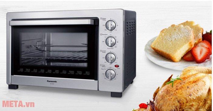 Lò nướng Panasonic NB-H3800SRA giúp chế biến nhiều món ăn