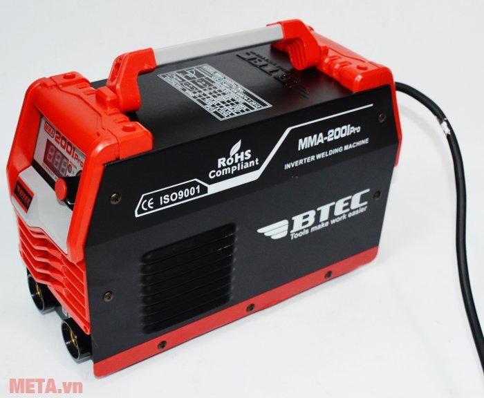 Máy hàn Inverter Btec MMA-200I Pro có tay xách