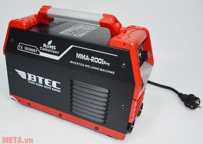 Máy hàn Inverter Btec MMA-200I Pro cho mối hàn cực đẹp, độ ngấu cao