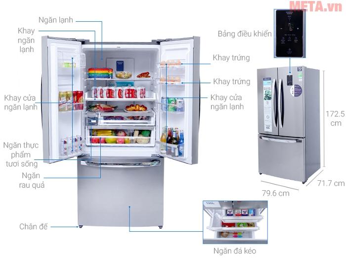 Thiết kế của tủ lạnh 524 lít Electrolux EHE5220AA-DVN