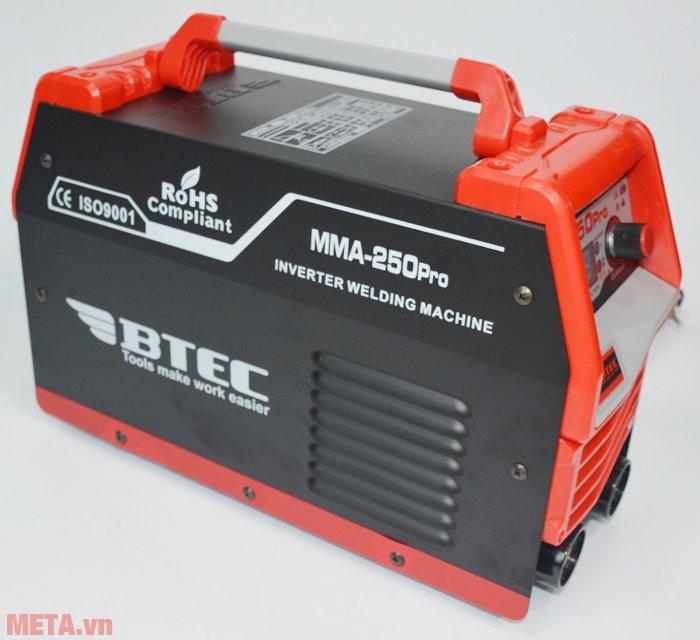 Máy hàn Inverter Btec MMA-250 Pro màu cam đen