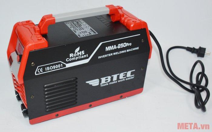Máy hàn Inverter Btec MMA-250 Pro đạt tiêu chuẩn ISO 9001