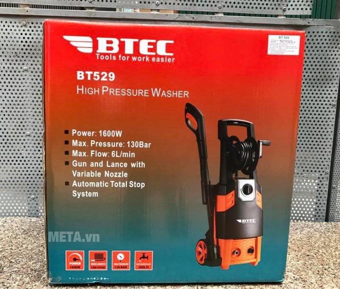 Máy xịt rửa áp lực cao Btec BT529 tiết kiệm nước