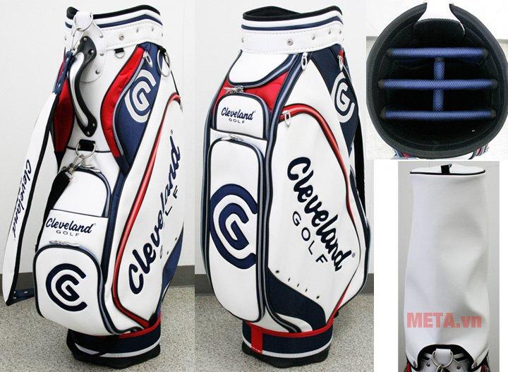 Bộ gậy golf Fullset nam Cleveland CG-C có tới 6 khe cắm gậy
