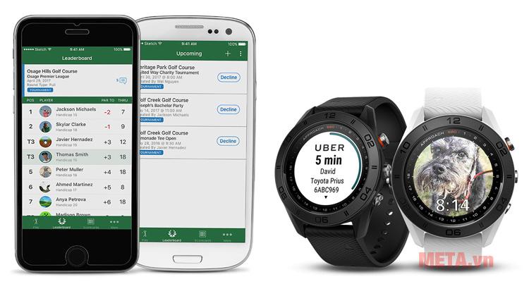 Garmin Approach S60 có khả năng kết nối với smart phone