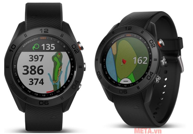 Đồng hồ Garmin Approach S60 có màn hình cảm ứng hiện đại