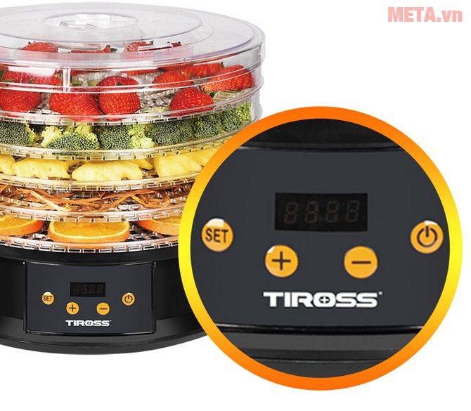 Máy sấy hoa quả, thực phẩm đa năng Tiross TS9682 có màn hình LED