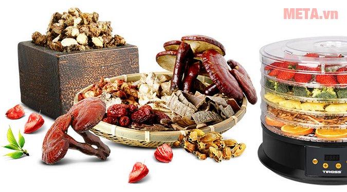 Máy sấy hoa quả, thực phẩm đa năng Tiross TS9682 đảm bảo an toàn thực phẩm