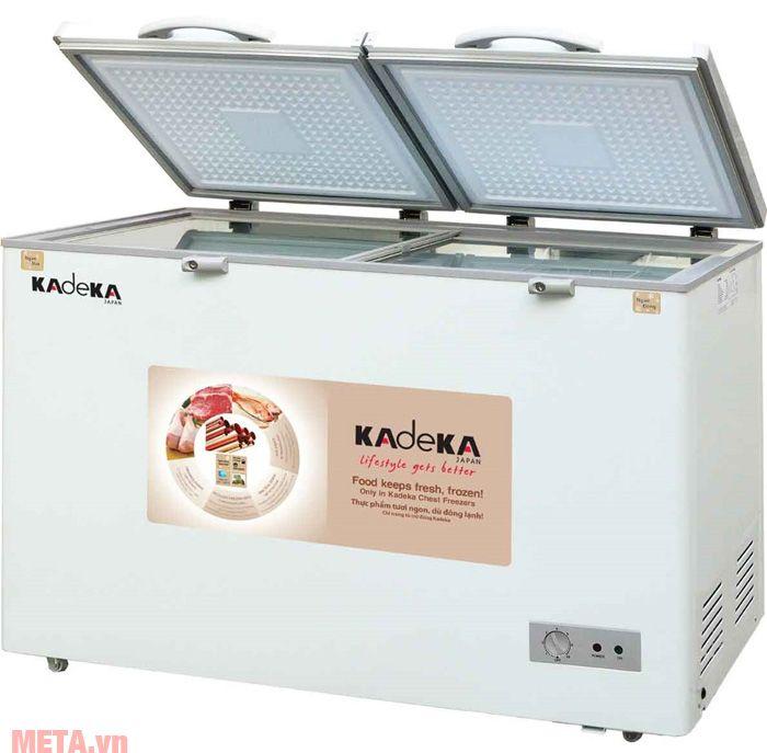 Tủ đông 2 cánh 300 lít Kadeka KCFV-350SC có giàn lạnh bằng đồng