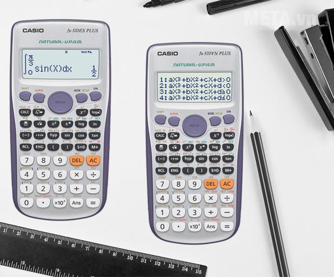 Phân biệt giữa máy tính bỏ túi Casio fx 570VN Plus và Casio fx 570ES Plus
