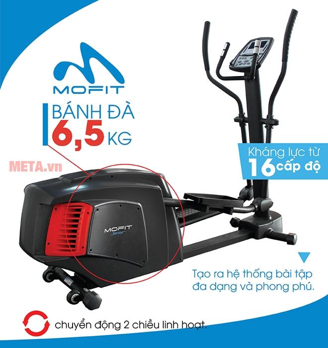 Xe đạp tập cao cấp Mofit 880DF-AT thiết kế không yên