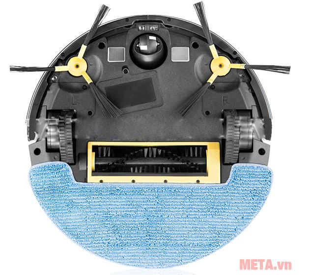 Robot hút bụi lau nhà thông minh Probot Nelson A3 được trang bị khăn lau đi kèm