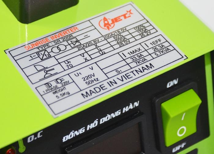 Thông số cơ bản của máy  hàn điện tử Hồng Ký SR-200R