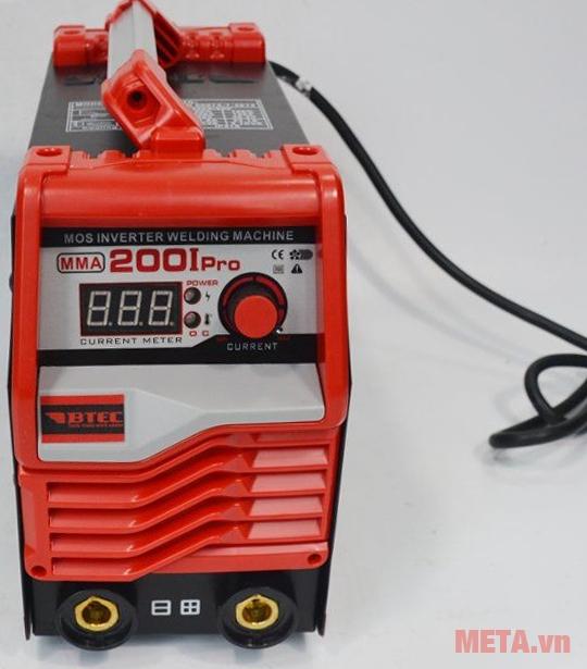 Máy hàn Inverter Btec MMA-200I Pro có đèn báo quá dòng O.C