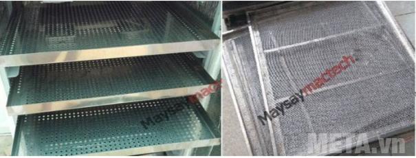 Máy sấy thực phẩm công nghiệp Mactech TS2000 có khay bằng inox