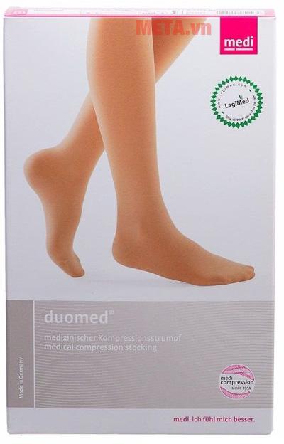 Bao bì sản phẩm vớ y khoa Duomed đùi