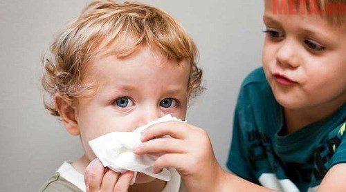 Dị ứng thời tiết là nguyên chính dẫn đến trẻ mặc các bệnh vào thời điểm giao mùa