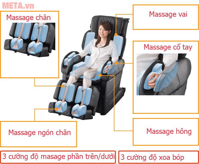 Ghế massage toàn thân Fujiiryoki EC-3900 thiết kế đa chức năng