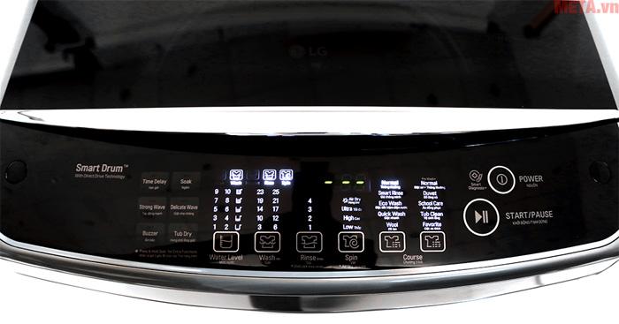 Bảng điều khiển với 10 chế độ giặt tự động