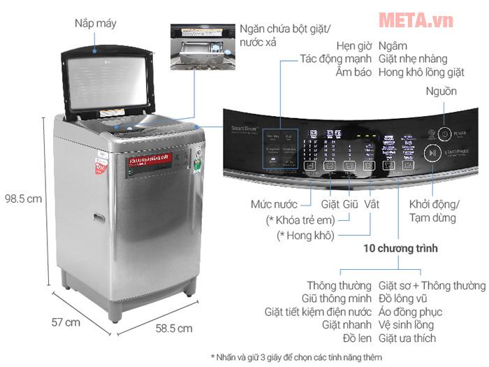 Hình ảnh chi tiết các thiết kế LG T2312DSAV