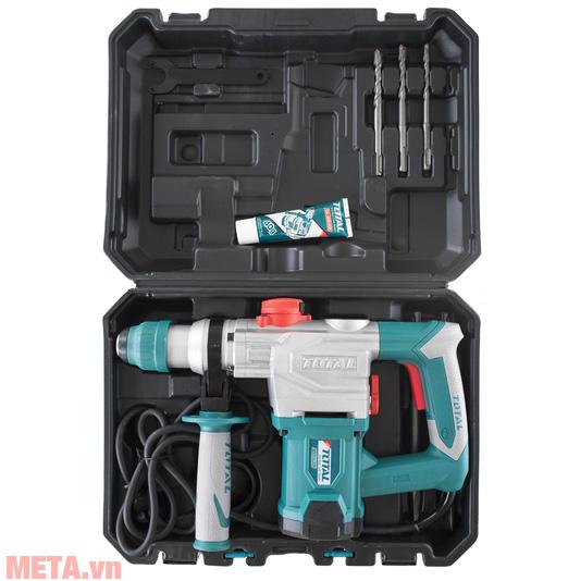 Máy khoan búa xoay Total TH110286 có hộp đựng chuyên dụng dễ dàng mang theo khi sử dụng