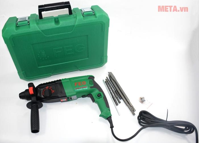 Máy khoan bê tông FEG EG-2601 SRE có hộp đựng để bảo quản