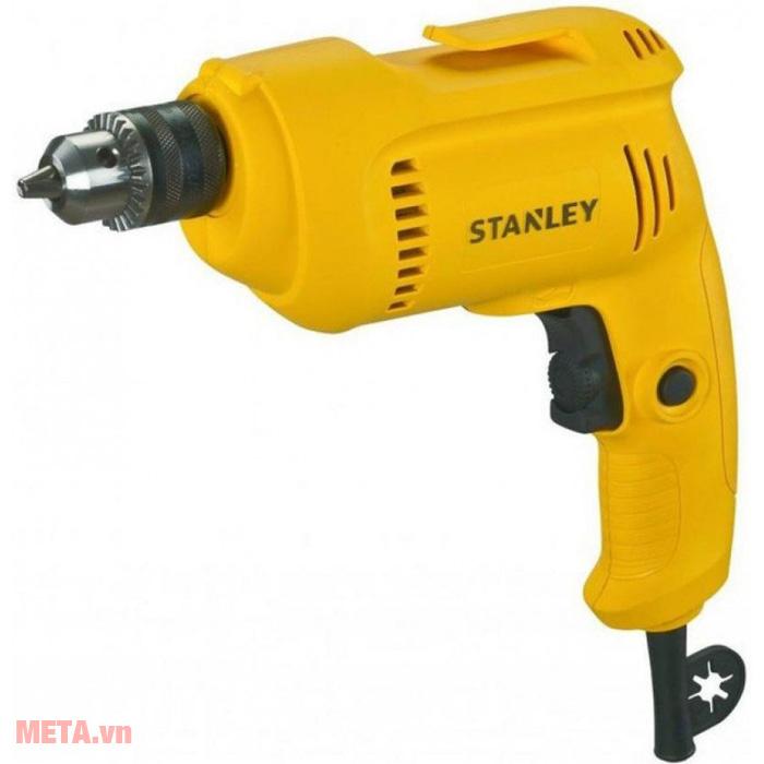 Máy khoan sắt Stanley STDR5510 có màu vàng tươi sáng
